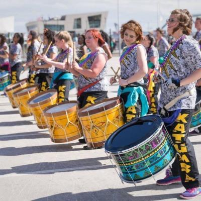 UK community drum and dance group, Katumba
