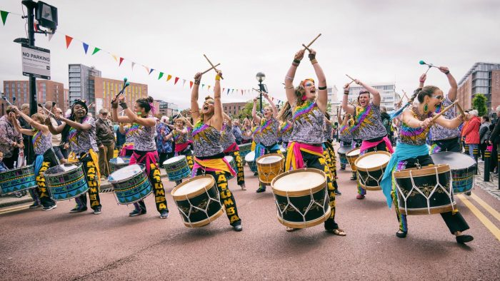 International Womens Day Liverpool Katumba drummers