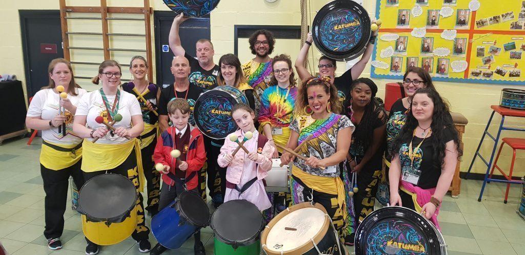katumba drummers school pupils