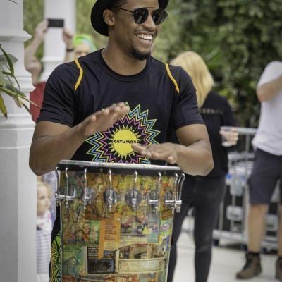 Brazilian carnival drummer greenhouse