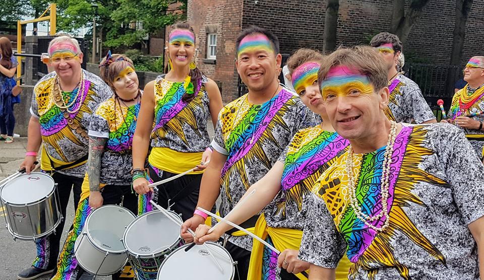 Rainbow drummers
