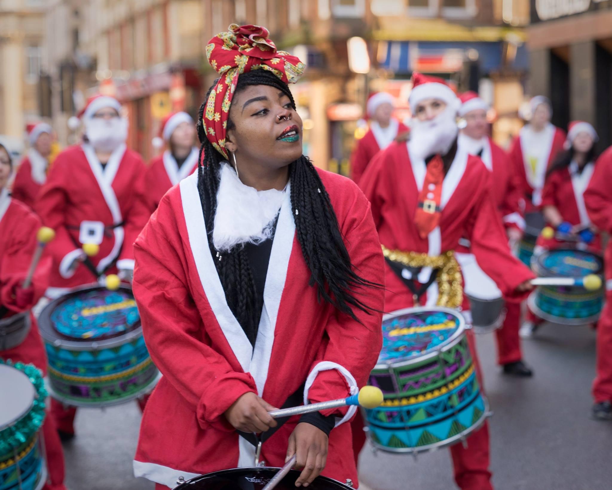 Drumming Santa